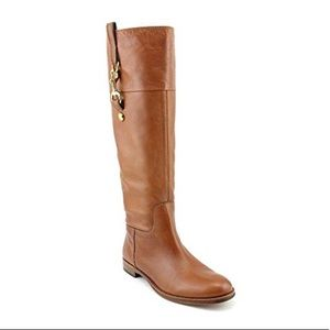 Coach Martta Tall Leather Riding Boots Size 8